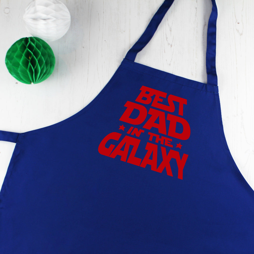 Best Dad in the Galaxy Father's Day Men's Apron, - Betty Bramble