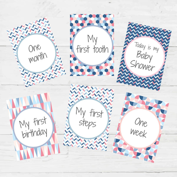 Baby Milestone Card Printables, - Betty Bramble
