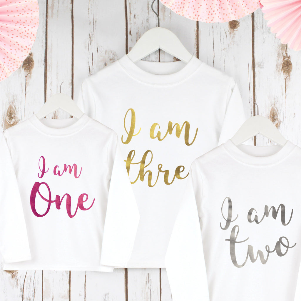 Children's Birthday T shirt with age
