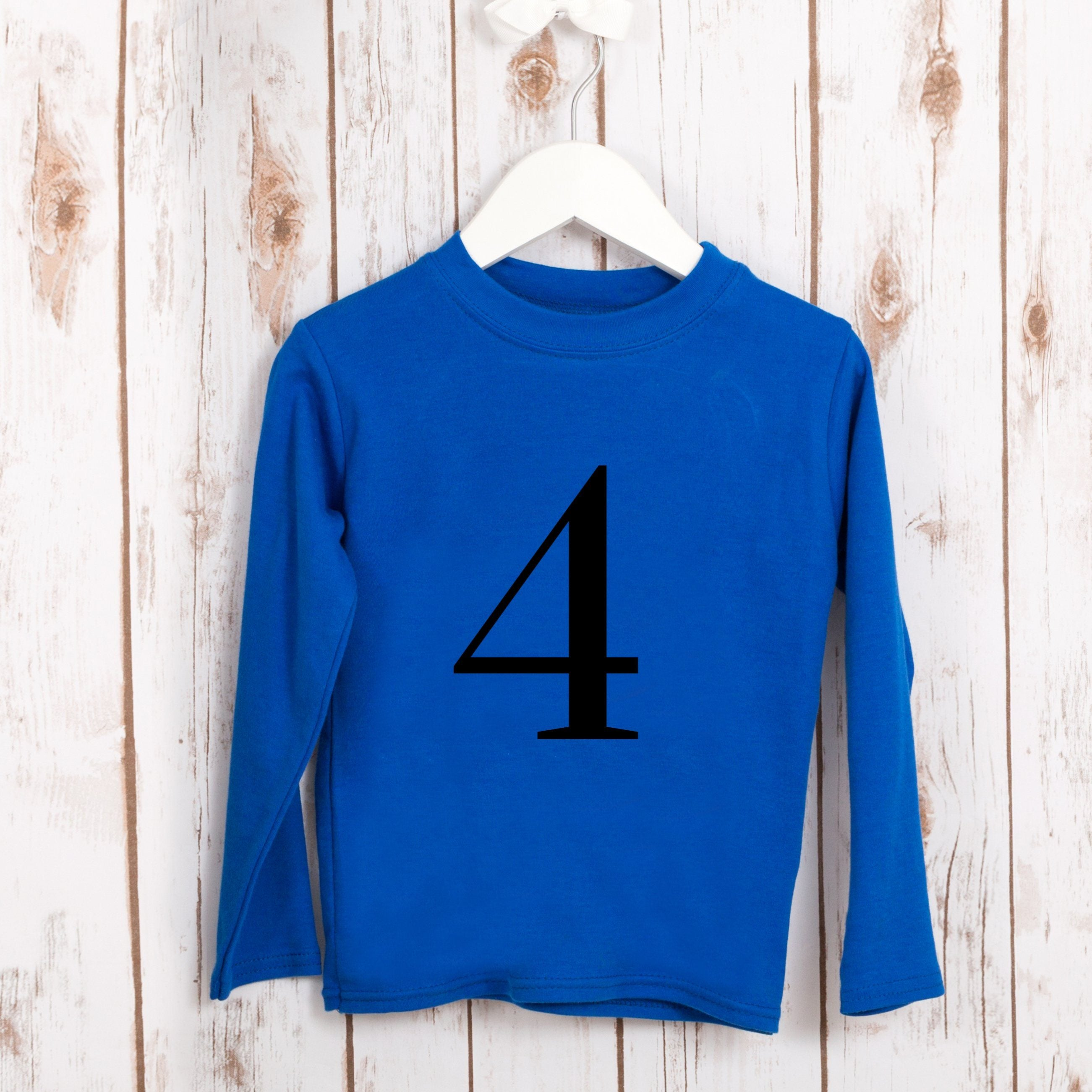Birthday Number T ShirtKids Shirts