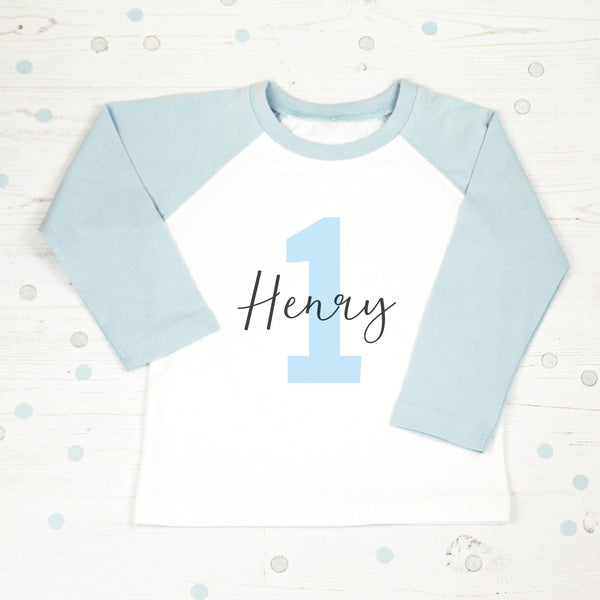 Personalised First Birthday T Shirt with Name