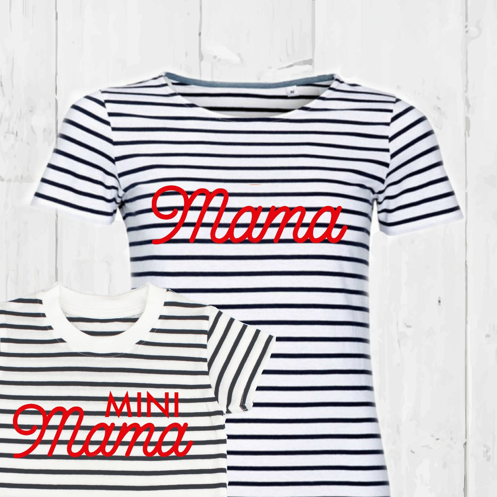 Mama Breton Twinning T Shirt Set, - Betty Bramble