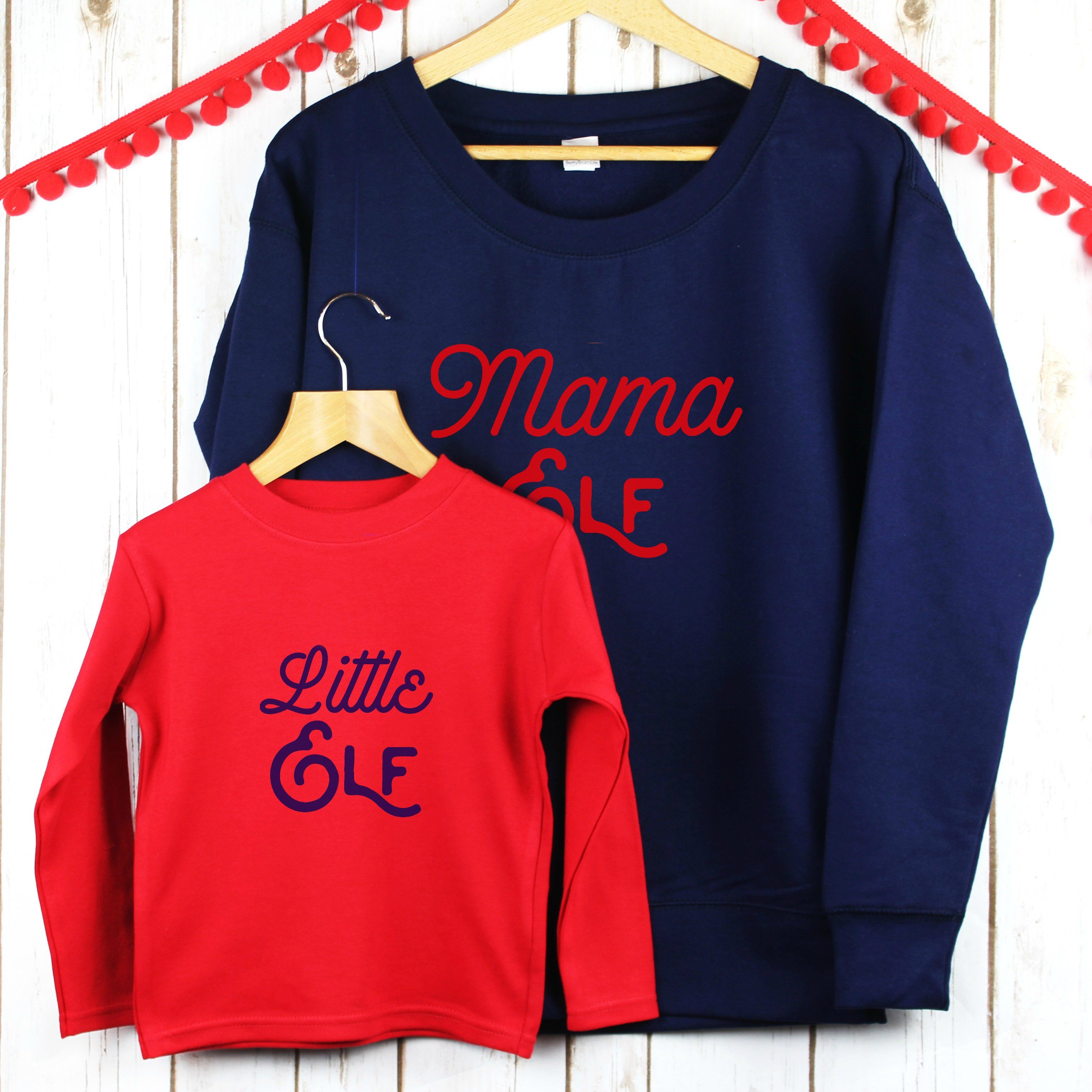 Christmas jumper mama and child elf set christmas betty bramble jpg  3084x3084 Mama elf d8da501fa