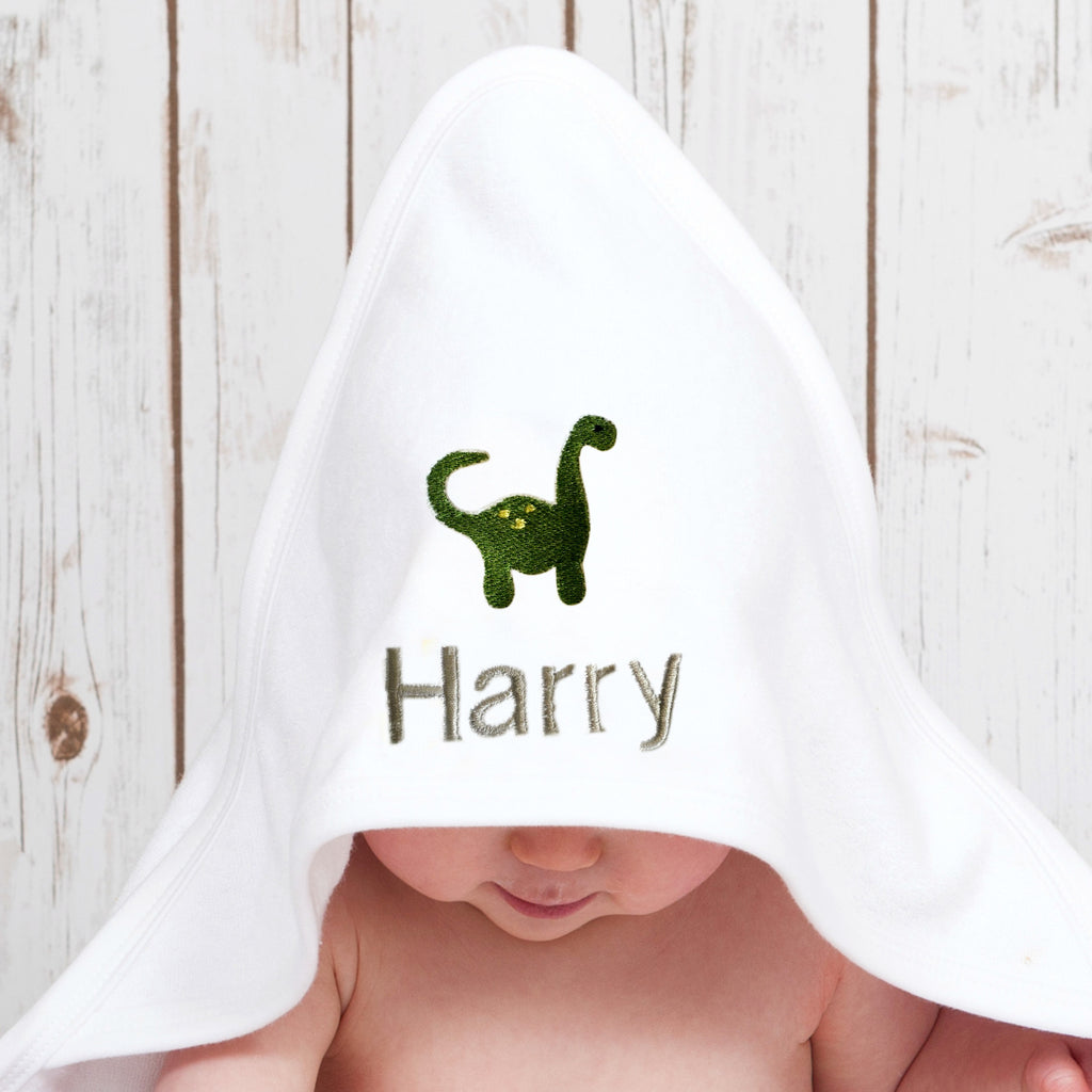 Personalised Baby Dinosaur Towel,Baby Towels - Betty Bramble