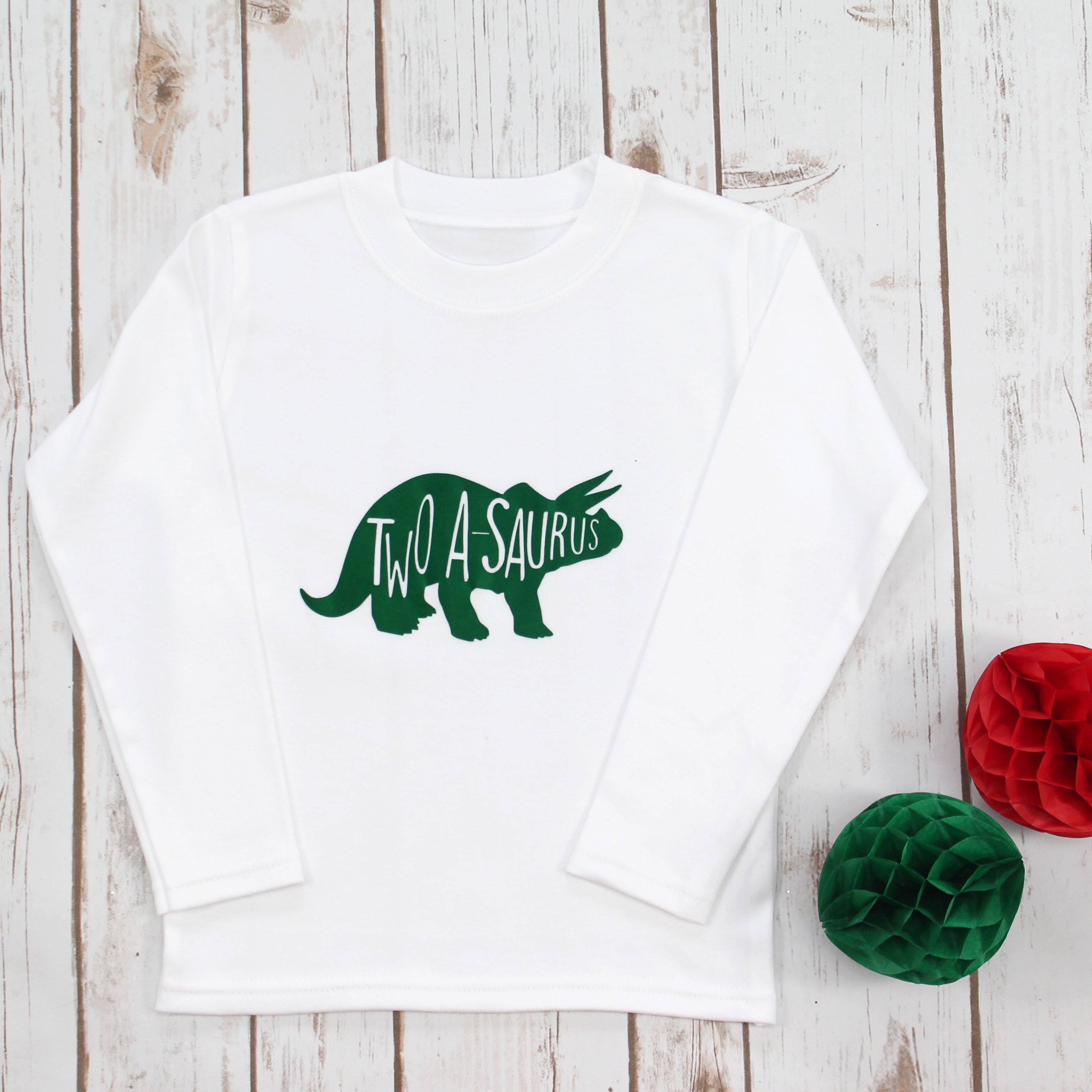 Dinosaur First Birthday Onesie