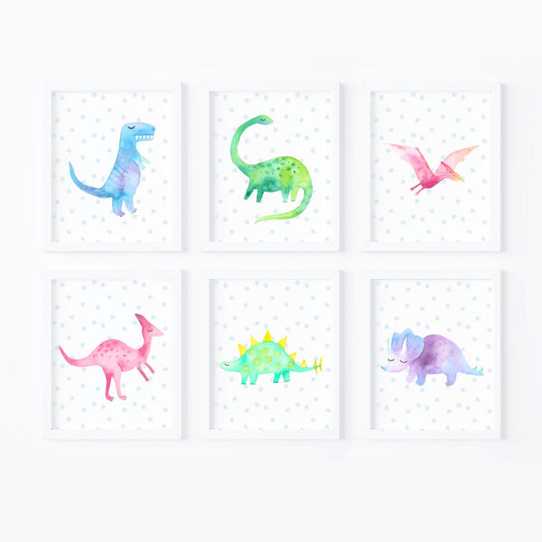 Dinosaurs Nursery Art Print Set,Art Print - Betty Bramble