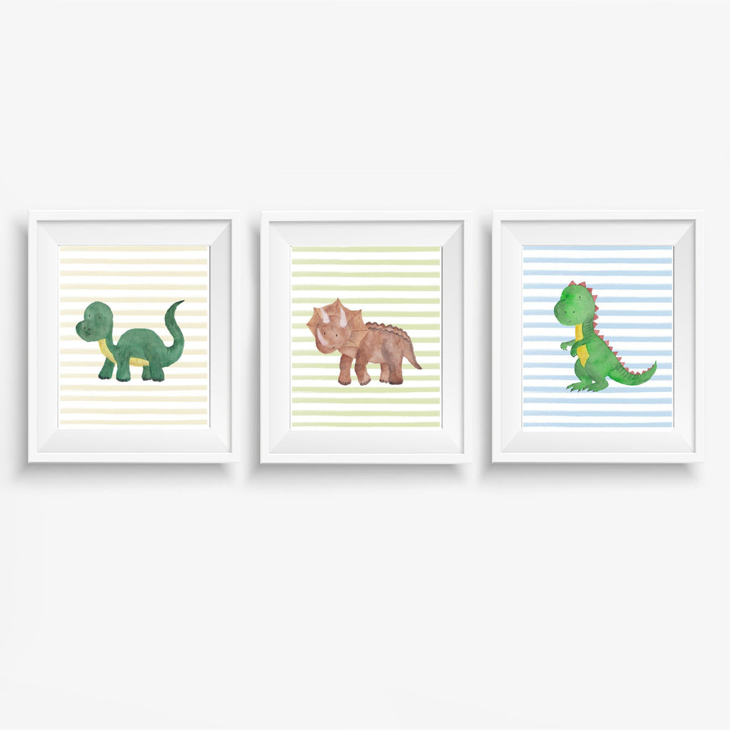 Dinosaur Nursery Art Print Set,Art Print - Betty Bramble