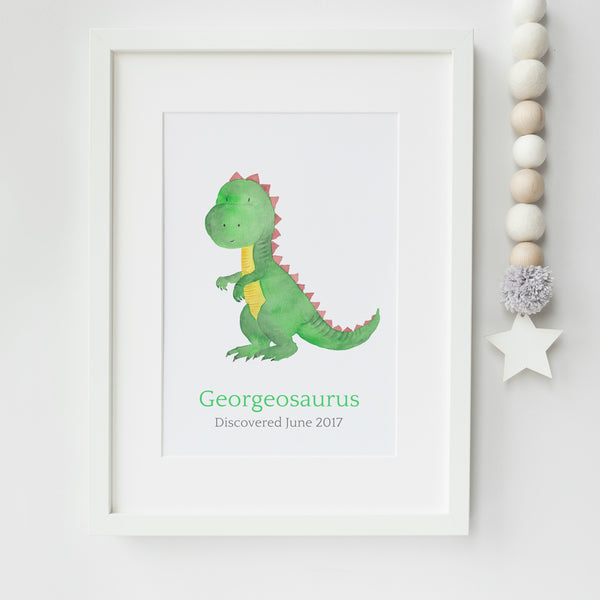 Personalised Dinosaur Nursery Art Print,Art Print - Betty Bramble