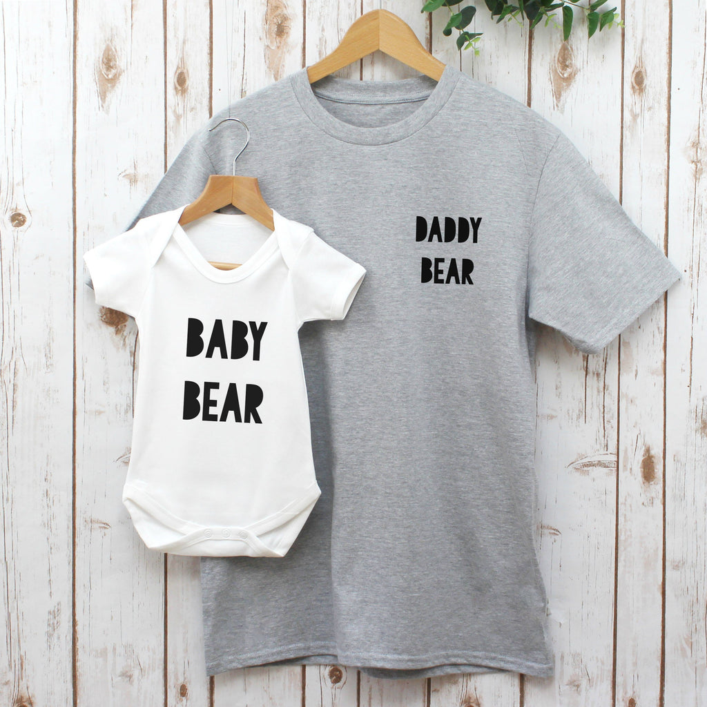 Daddy Bear and Baby Bear T Shirt Set, - Betty Bramble