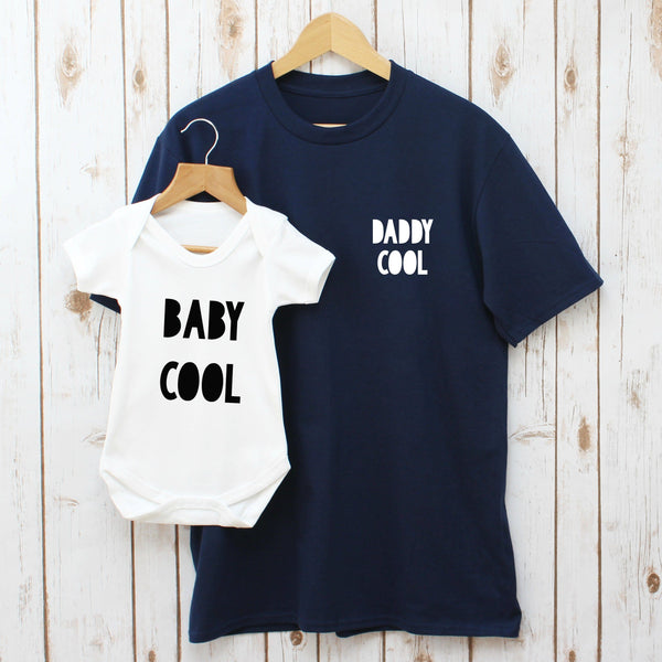 dabbc8ae6 Daddy Cool and Baby Cool T Shirt Set, - Betty Bramble