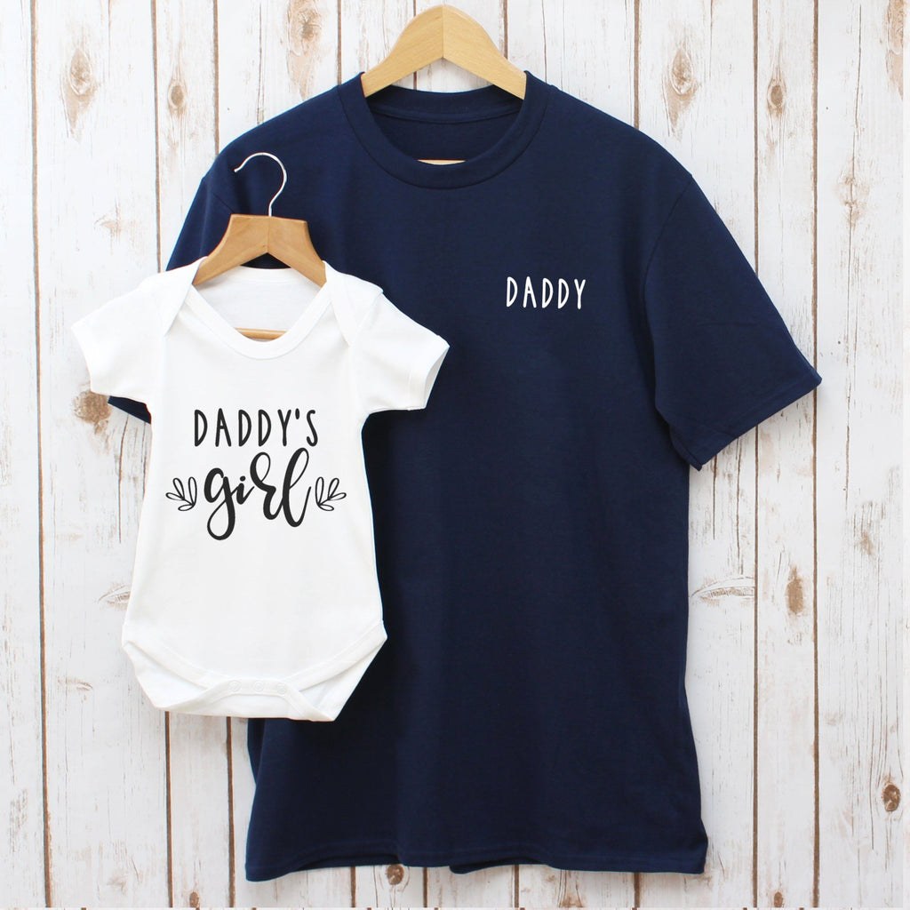 Father's Day Daddy And Baby Daughter Matching T Shirts, - Betty Bramble