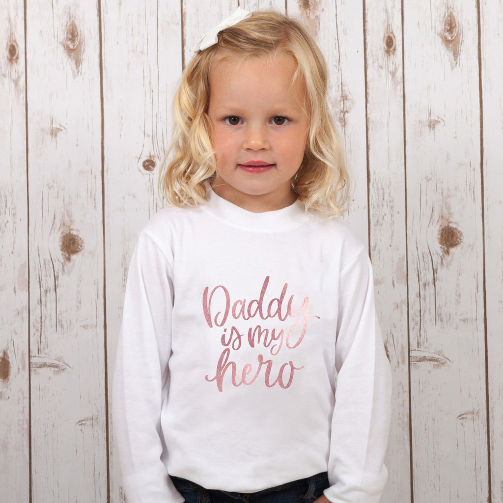 Daddy is My Hero Child's T Shirt,Kids T Shirts - Betty Bramble