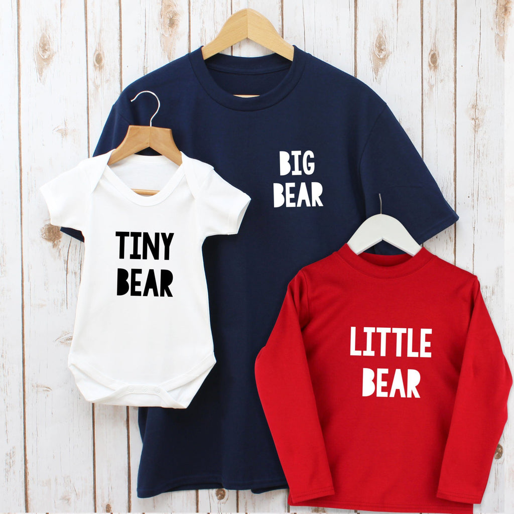 Big Bear Family T Shirts Set, - Betty Bramble