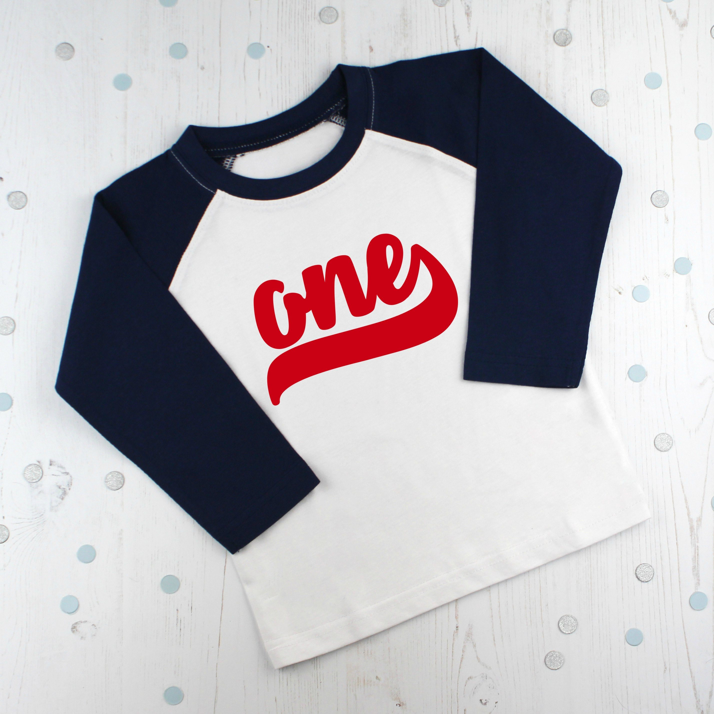 First Birthday Raglan T Shirt