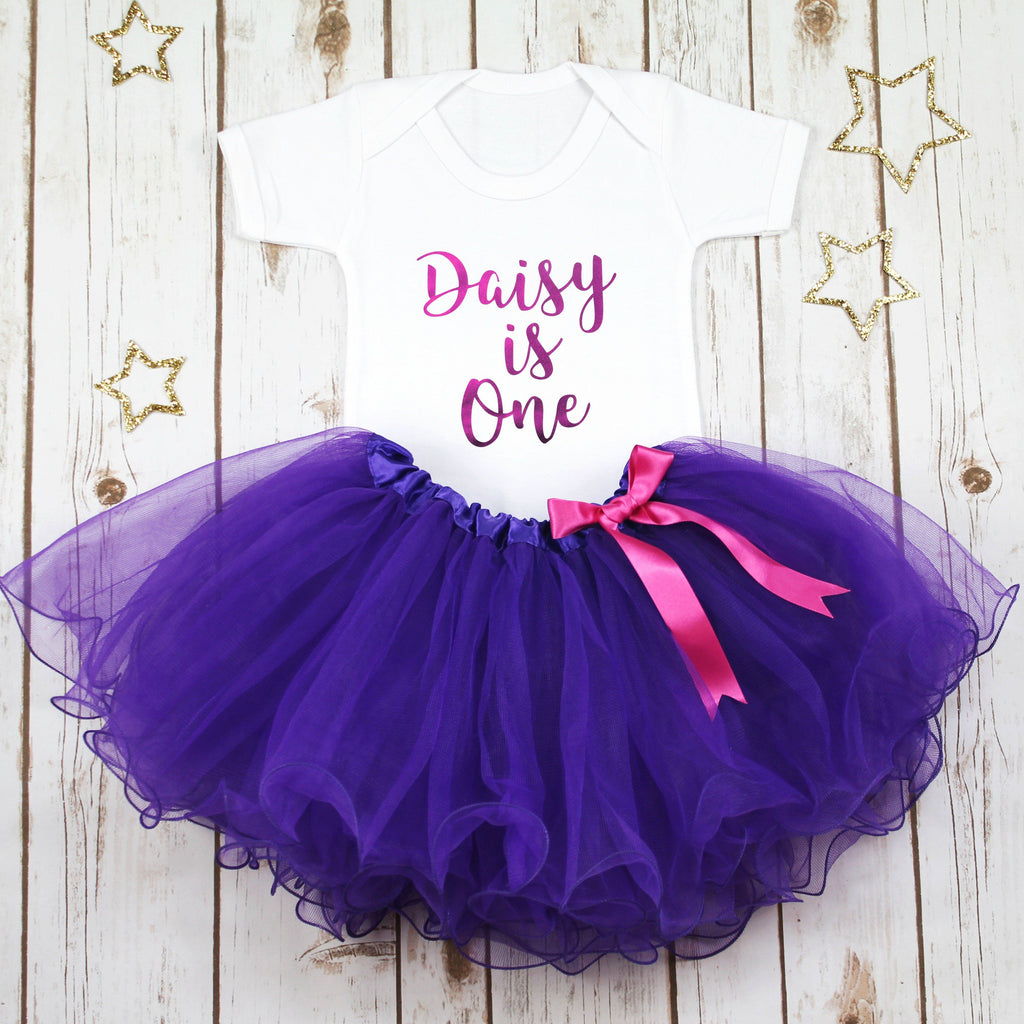 Personalised First Birthday Tutu Outfit, - Betty Bramble
