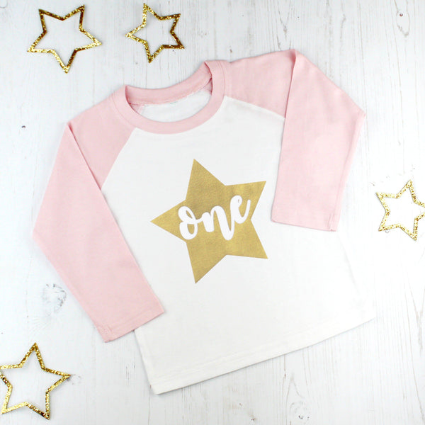 Girls First Birthday Star T Shirt, - Betty Bramble