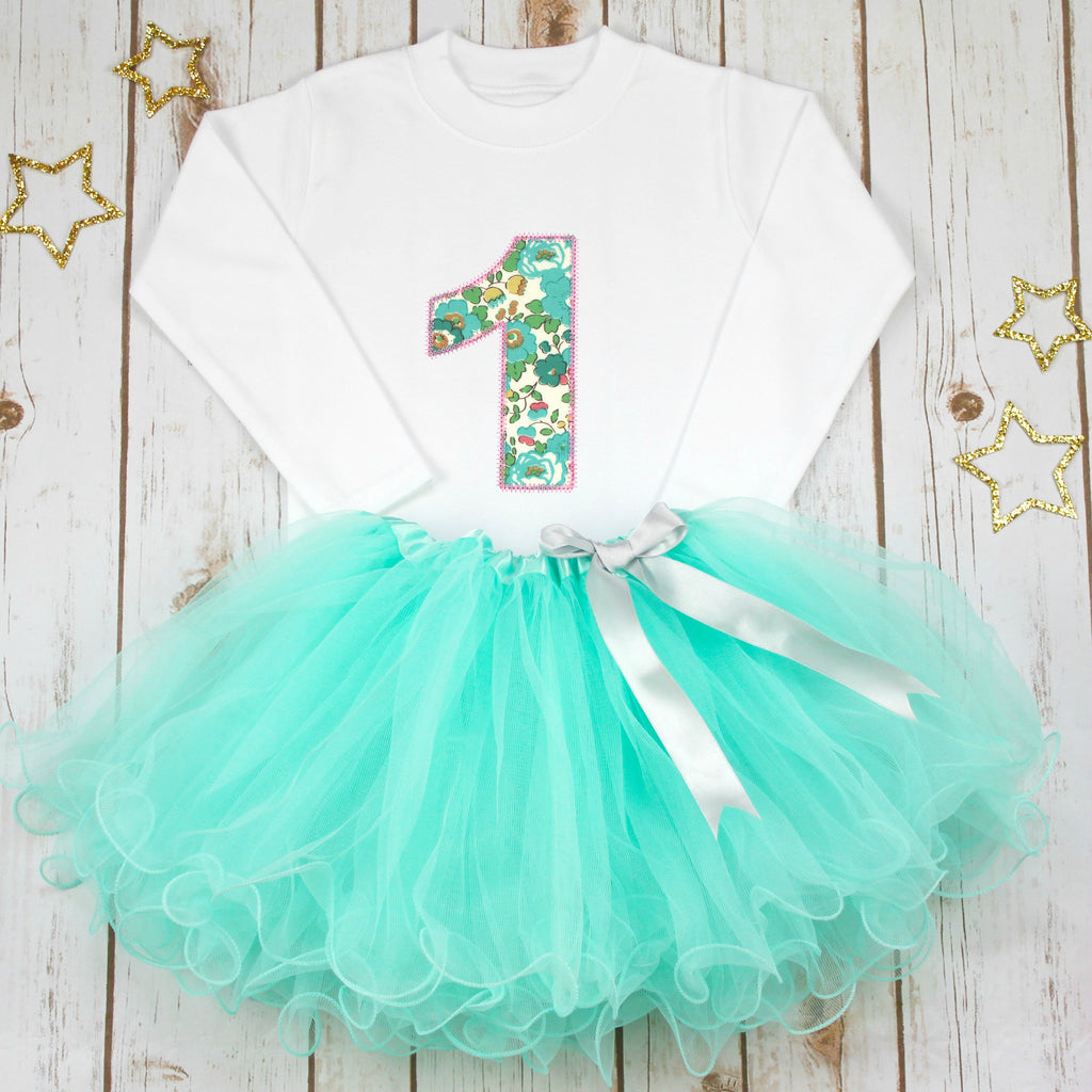 Birthday Liberty Aqua Tutu Outfit - Betty Bramble