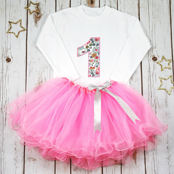 Birthday Liberty Pink Tutu Outfit, - Betty Bramble