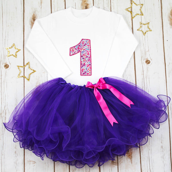 Birthday Liberty Purple Tutu Outfit, - Betty Bramble