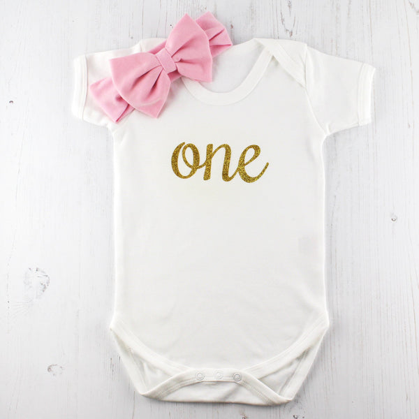 First Birthday Sparkle Babygrow - Betty Bramble