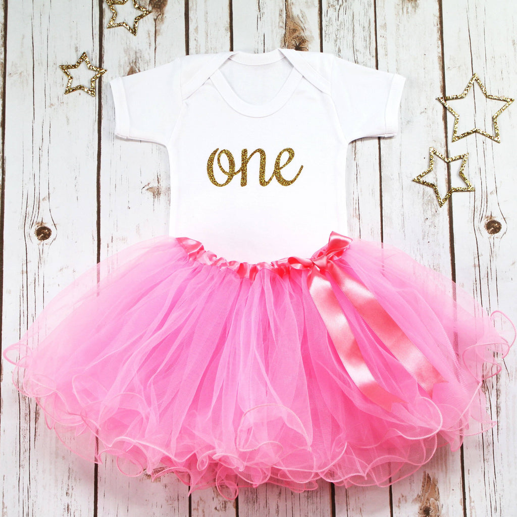 First Birthday Pink Tutu Outfit, - Betty Bramble