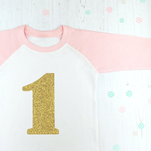 First Birthday Glitter T Shirt, - Betty Bramble