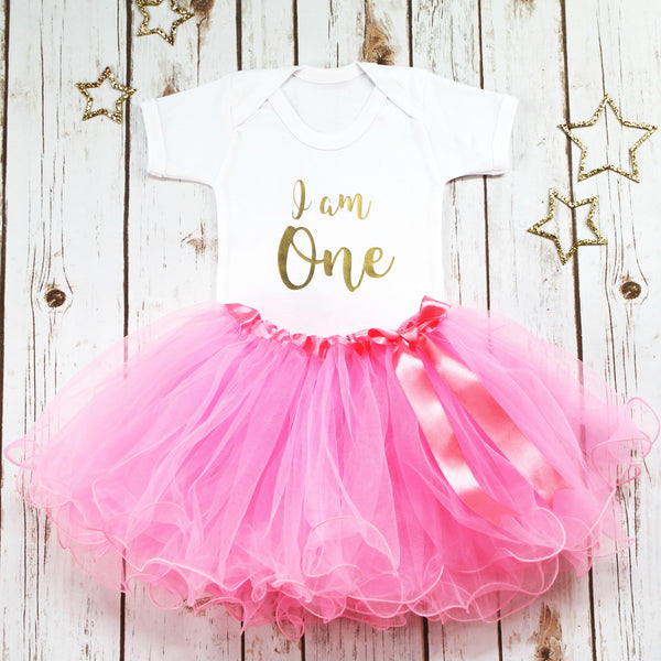 I am One First Birthday Tutu Outfit, - Betty Bramble