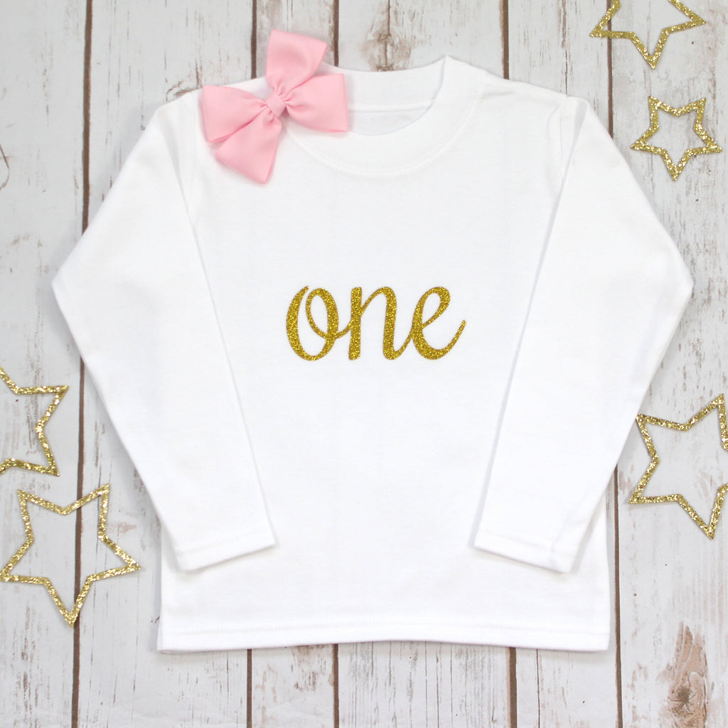 First Birthday Sparkle T Shirt - Betty Bramble