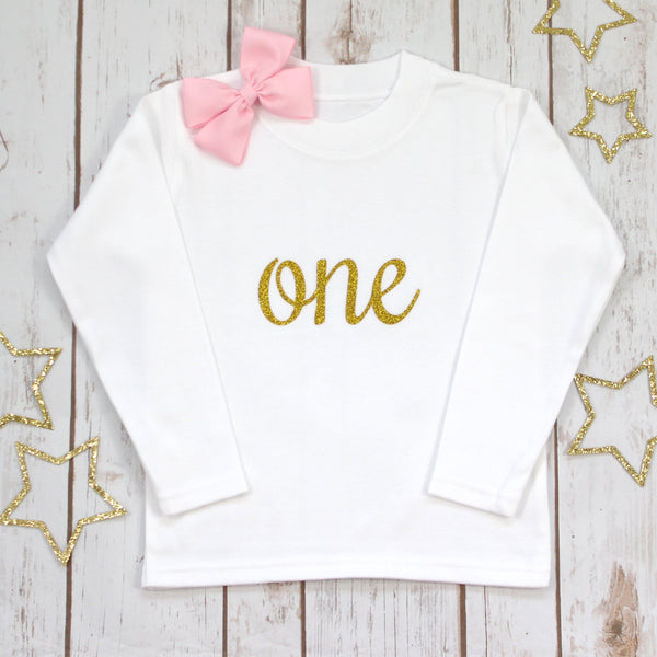 First Birthday Sparkle T Shirt, - Betty Bramble