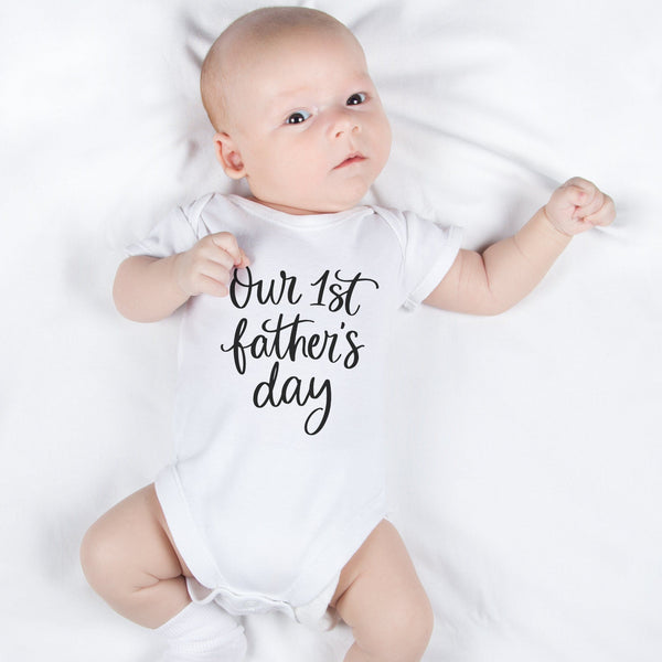 Our First Father's Day Baby Bodysuit, - Betty Bramble