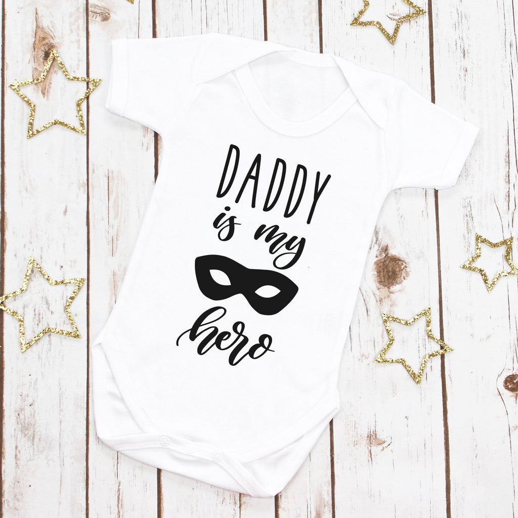 Daddy is My Superhero Baby Bodysuit, - Betty Bramble
