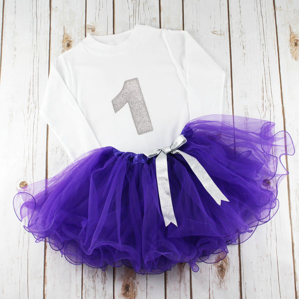 First Birthday Sparkle Tutu Outfit, - Betty Bramble