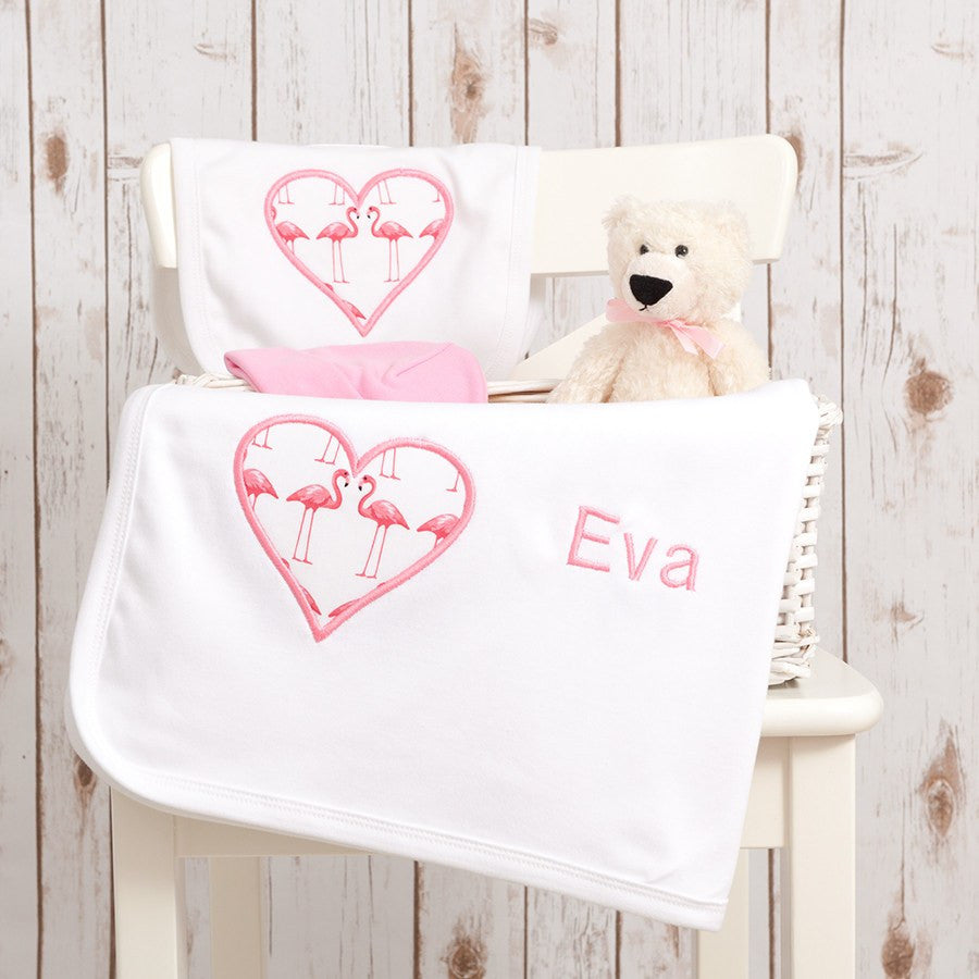 Flamingo Baby Gift Set,Personalised Baby Gifts - Betty Bramble