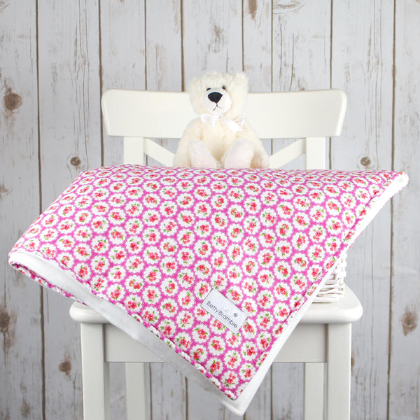 Evie Pink Floral Baby Blanket - Betty Bramble