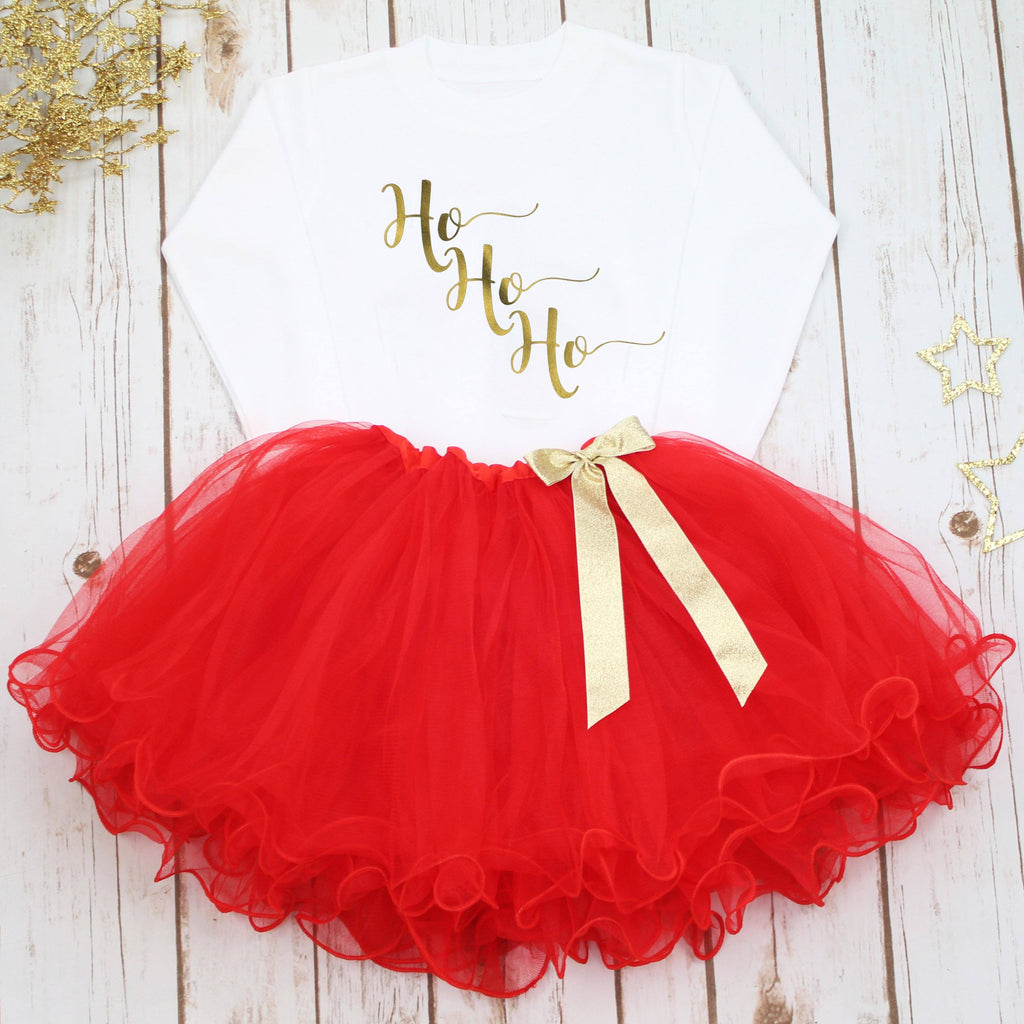Ho Ho Ho Christmas Tutu Set,Christmas - Betty Bramble