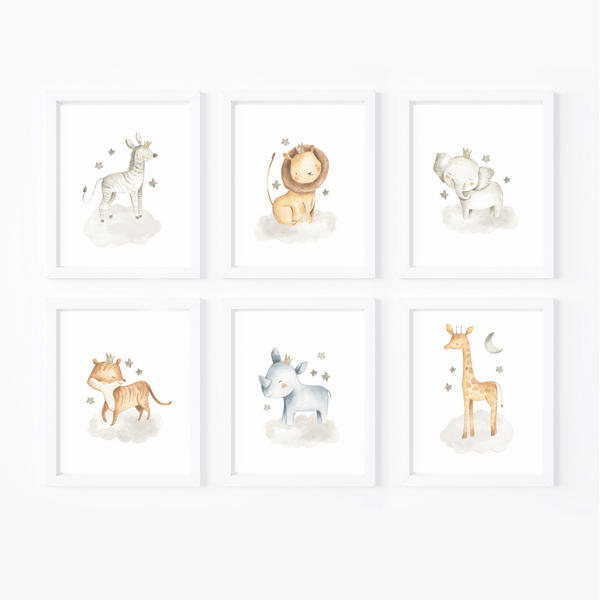 Jungle Animals Nursery Art Print Set,Art Print - Betty Bramble