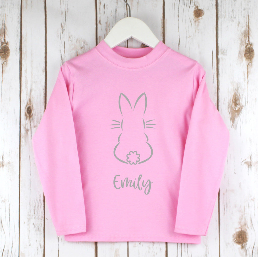 Personalised Easter Bunny Outline Shirt, - Betty Bramble