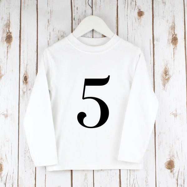 Birthday Number T Shirt