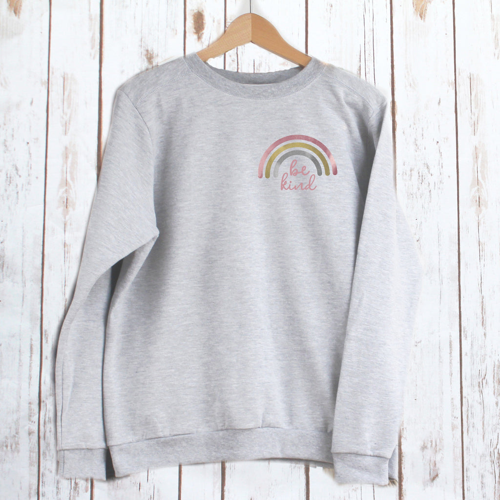 Ladies 'Be Kind' Rainbow Sweatshirt,Ladies Sweatshirt - Betty Bramble