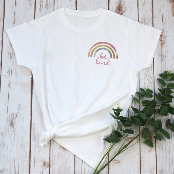 Ladies Rainbow T-Shirt 'Be Kind', - Betty Bramble