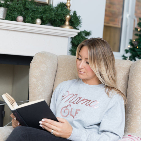 Ladies Christmas Jumper - Mama Elf in Grey,Christmas - Betty Bramble