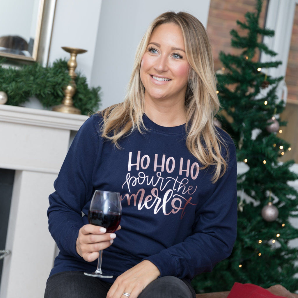Ladies Christmas Jumper For Red Wine Merlot Lover