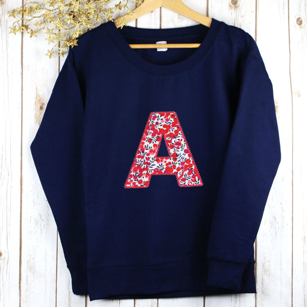 Ladies Liberty Personalised Sweatshirt - Wiltshire,Christmas - Betty Bramble