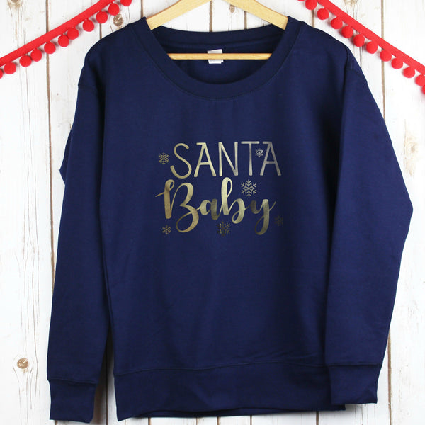 Ladies Christmas Jumper - Santa Baby,Christmas - Betty Bramble