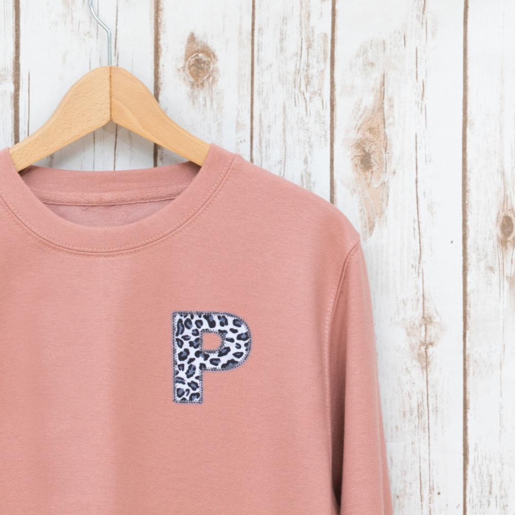 Ladies Leopard Print Personalised Sweatshirt,Ladies Sweatshirt - Betty Bramble