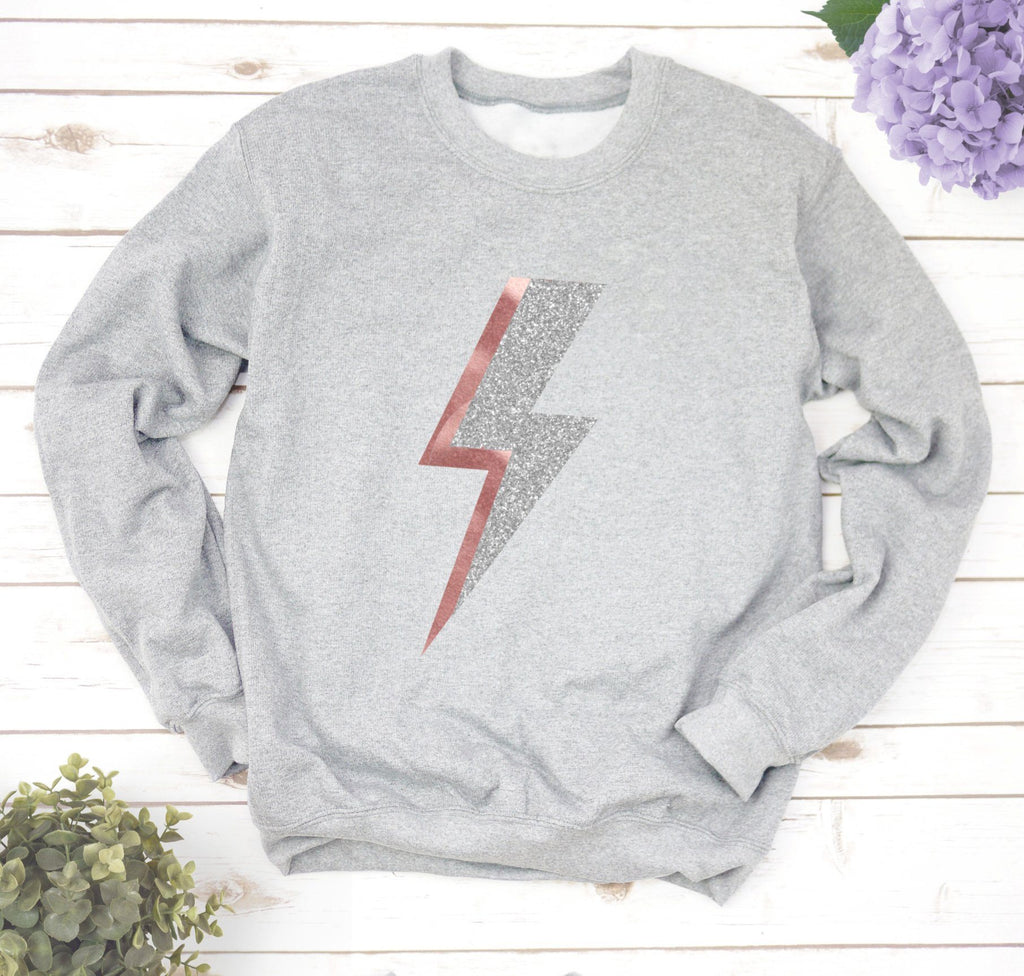 Ladies Lightning Bolt Sweatshirt,Ladies Sweatshirt - Betty Bramble