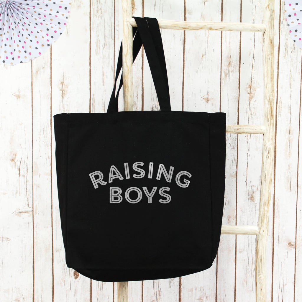 Raising Boys Large Shopper Tote Bag, - Betty Bramble