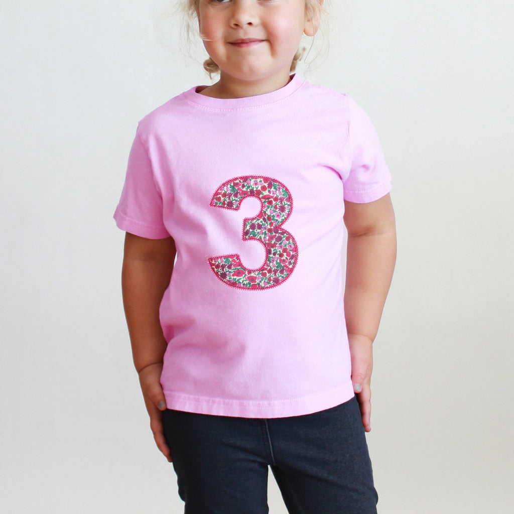 Third Birthday Applique Liberty T Shirt