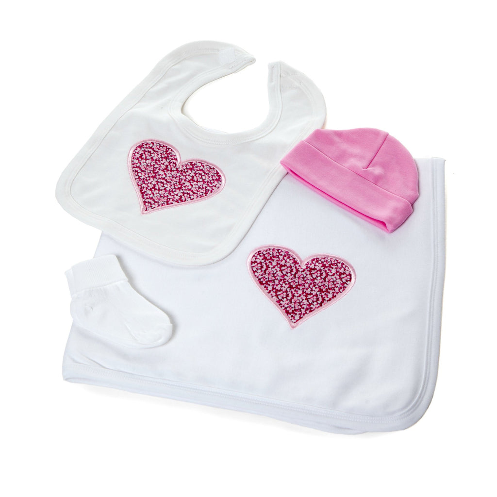 Liberty Heart Gift Set,Personalised Baby Gifts - Betty Bramble