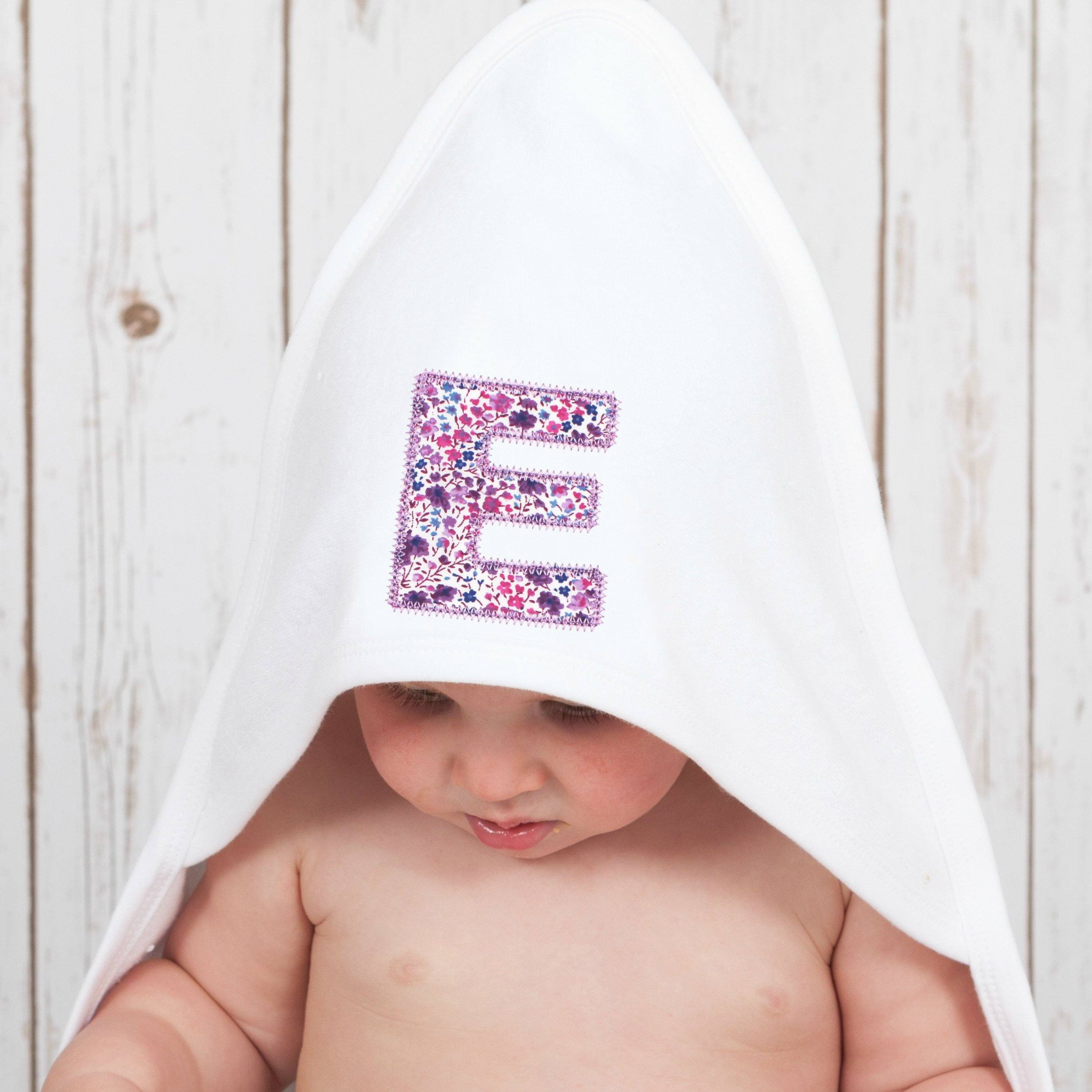 Personalised baby towel hooded baby towel with liberty bunny liberty hooded baby towelpersonalised baby gifts betty bramble negle Choice Image